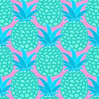 Padrão sem emenda de abacaxis. Fundo tropical. Ilustração vetorial Pronto para o seu design, cartão vetor