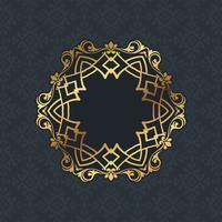 Design de borda decorativa vetor