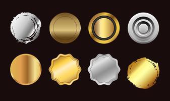 conjunto de botão colorido. coleção de símbolos de vetor de ícones.