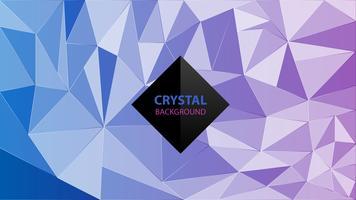 Backgruond abstrato colorido de cristal vetor