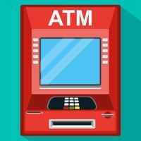 Máquina de caixa do ATM. Ilustração do vetor.