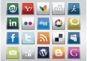 Ícones de vetores de redes sociais livres
