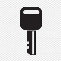 Sinal de símbolo de ícone de chave