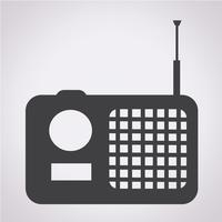 sinal de símbolo de ícone de rádio