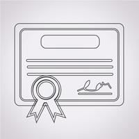 Certificado, símbolo, sinal símbolo