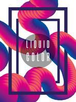 Cartaz de verme líquido futurista vetor