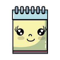 kawaii bonito feliz ferramenta de caderno vetor