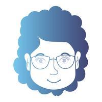 linha avatar mulher cabeça com penteado vetor