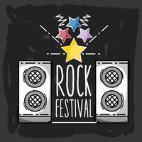 festival de rock evento de música de concerto vetor