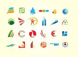 Vetores simples de formas de logotipo