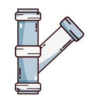 construção de equipamentos de reparação de tubos de canalização vetor