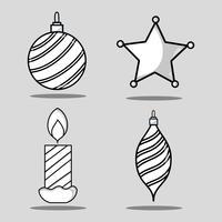 conjunto alegre decoração chrstmas design vetor