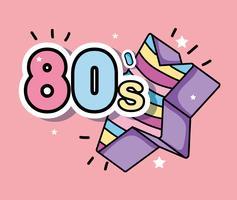 Eu amo os anos 80 vetor