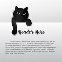 Aquarela de gato preto. Ilustração vetorial vetor