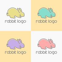 vetor de design de logotipo de coelho
