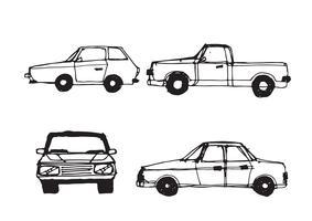 Sinal de símbolo de desenho de carro vetor