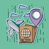 destino de aventura viajar para o turismo de férias vetor