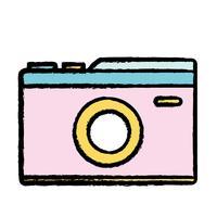 câmera digital para tirar uma foto de arte vetor