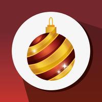 Merry christams bola decoração design vetor