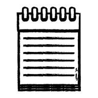 figura projeto de objeto de papéis de caderno para escrever vetor