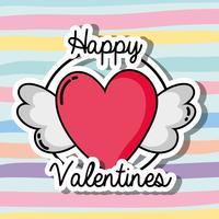 dia de velentines patches design símbolo do amor vetor