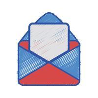 mensagem de cartão com informações de documento de carta vetor