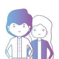 linha casal togeter com design de penteado