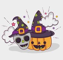 Desenhos de feliz dia das bruxas vetor