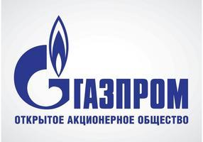 Logotipo russo da Gazprom vetor