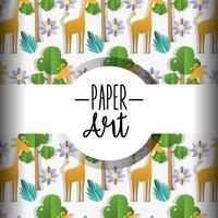 Fundo de arte de papel