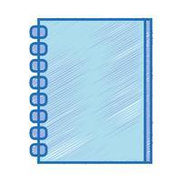 design de objeto de papéis de caderno para escrever vetor