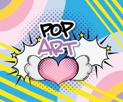 Desenhos de arte pop vetor