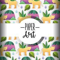 Fundo de arte de papel vetor