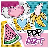 desenhos de pop art vetor