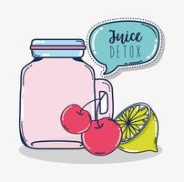 Desintoxicação suco de fruta vetor