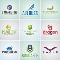 Conjunto de modelo de Design de logotipo corporativo criativo vetor