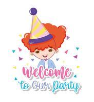 Bem-vindo à nossa festa vetor