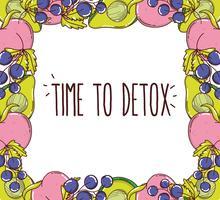 Tempo para detox frame vetor