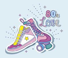 Eu amo desenhos animados dos anos 80 vetor