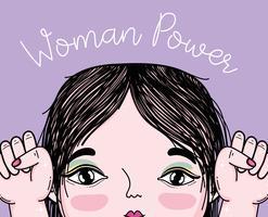Desenhos animados de poder de menina vetor
