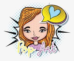 Desenho de arte pop vetor