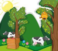 Desenhos animados bonitos da fazenda