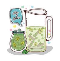 Desenhos animados de suco de desintoxicação vetor
