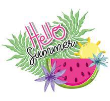 Olá cartoons de verão vetor