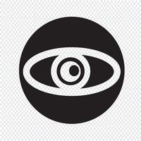 Olho, ícone, símbolo, sinal vetor