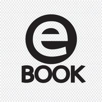 E-Book ícone símbolo sinal vetor