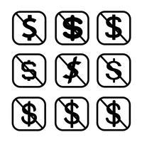Licença e direitos autorais Uso não comercial ícone símbolo sinal vetor