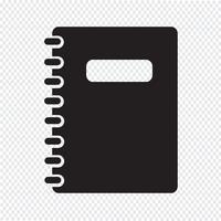 símbolo de ícone de caderno vetor