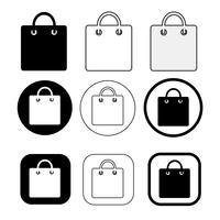 Ícone de sacola de compras vetor