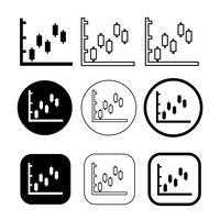 Conjunto simples de diagrama e gráfico icon vetor